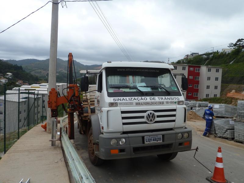 Empresa de placas de sinalização de obras