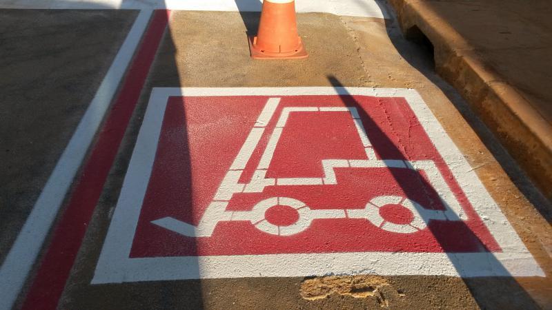 Sinalização para estacionamento
